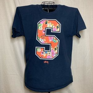 Stussy double sided graphic T-shirt Size Large